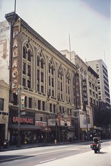 Los Angles  ~ California ~ Palace Theatre ~ Bond Clothing  ~ My Photo from 2001 (Onasill ~ Bill Badzo) Tags: los angles ca california broadway losangelescounty vaudeville theatredistrict nrhp historic orpheum oldest unitedstates usa onasill florentine renaissance style marquee palazzo bond clothing store moviepalace cinema