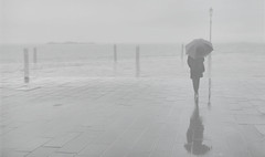 road to nowhere (poludziber1) Tags: venice venezia verbania street sky skyline streetphotography sea rain city cityscape clouds people umbrella italia italy light fogy 15challengeswinner mpt560 matchpointwinner