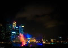 the duel (sulistio widodo) Tags: night singapore outdoor city architecture cityscape nikon nikond90