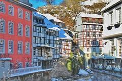 Monschau - Fachwerkhäuser an der Rur (Haeppi) Tags: fachwerk monschau eifel nrw rur winter germany deutschland