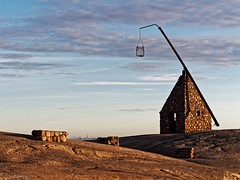 The view of ancient and new lighthouse at Verdens Ende (Geir Bakken) Tags: lighthouse verdensende tjøme vestfold norway norge sunset building old rocks beautiful bestpicture perfectbeauty landscape yabbadabbadoo niceview sky clouds m43 mirrorless microfourthirds 45mm