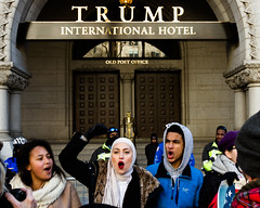 Old Post Office (ep_jhu) Tags: noban washington march 7d democracy antitrump rally protest civilrights canon dc nowall trump districtofcolumbia unitedstates us hijab woman