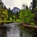 The Merced River and Half Dome (Wide Angle, Yosemite National Park)