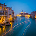 View from the bridge of Academia on Basilica of Santa Maria, Venice