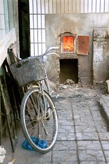 firebike (minicloud) Tags: china 2001 urban bike bicycle fire oven urbandecay xian