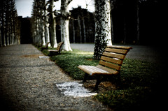 memoir III :or Requiem for Dreams (TommyOshima) Tags: park leica japan bench tokyo f10 noctilux agfavista gloomyheart