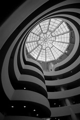 Fun with wide-angle lenses and Photoshop (the Guggenheim) (Mark Demeny) Tags: newyork art topv111 museum guggenheim