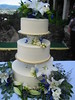blue wedding cake photo