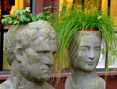 Opposites Attract (ANiceCupofTea) Tags: california sculpture green grass garden ilovenature planters ivy descansogardens lacaadaflintridgecalifornia