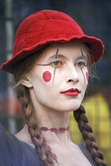 Living Doll (Kenny Maths) Tags: woman beautiful hat festival eyes gorgeous fringe streetperformer blueribbonwinner interestingness6 edinburghfringe kennymathieson platinumheartawards ringexcellence