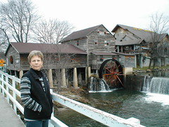 Johnna at Pigeon Forge Mill (Country Squire) Tags: mill water wheel river tn tennessee tx sue pigeonforge johnna