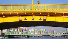 TOKYO SUMIDA RIVER BRIDGE (patrick555666751) Tags: tokyo sumida river bridge bridges ponts pont puente puentes riviere tokyosumidariverbridge yellow amarillo jaune giallo gelb nihon nippon cipango jipangu japao giappone japo edo kanto honshu tokio toquio japon japan asie est east asia brucke