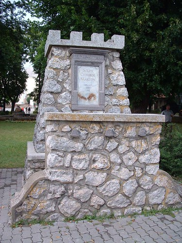 Szepsi, Szepsi Csombor Márton emlékműve