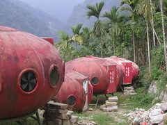 Space-style honeymoon suites (shimmertje) Tags: ruili  taiwan red alien chiayi honeymoon jiayi suites mountain rueili alishan 50v5f