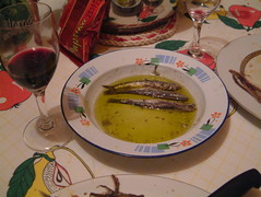 Red wine from Miro and anchovies from Marija (Snazzo) Tags: 2005 mediterranean croatia anchovies vis vacanze holyday snazzo