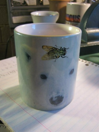 Flies on the Polar Bear Mug