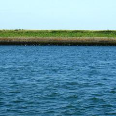 Oosterschelde: dike (doc(q)man) Tags: netherlands zeeland oosterschelde water blue ocean shore dike docman