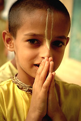 Hare Krishna............. (Sanzen) Tags: hare krishna birthday janamashtami little boy prayers