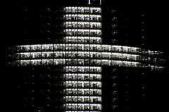 cross for the pope (Blackwings) Tags: cross worldyouthday bonn germany posttower building nightshot nightlight 15fav bestviewedlarge wjt wyd