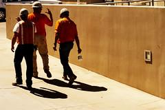 Caught walking: 2 of 2 (| HD |) Tags: 2 people 20d canon three construction walk group helmet talk guys hd darwish hamad