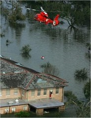 Coast Guard Dolphin H-65 during Hurricane Katrina operations