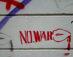 NO.WAR (What What) Tags: shoreditch london streetart no war lips stencil blood red nowar