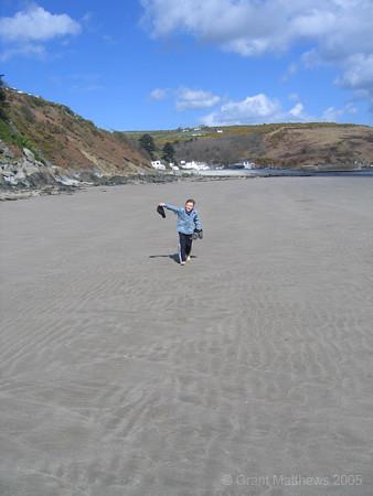 Dillan on Laxey Beach