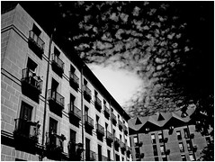 Just an afternoon (sole) Tags: madrid europe summer august 2005 holiday street urban sky heaven clouds city metropolitan spain