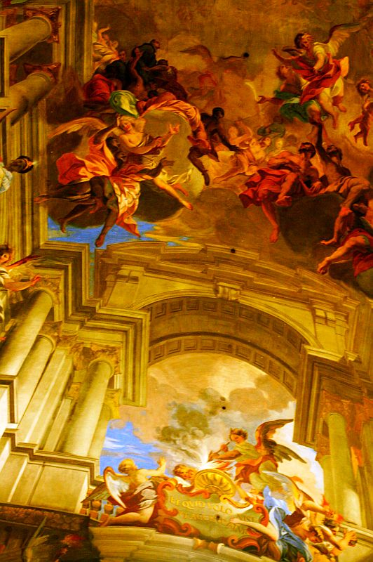Ceiling of the Church of Saint Ignatius of Loyola, Rome, Lazio