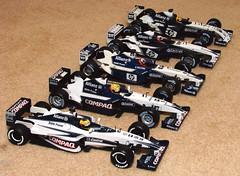 Williams F1's x5 (pochacco20) Tags: williams bmw f1 toys