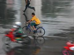 Biker in BKK (Yorick...) Tags: bkk city people 2weels yorick wonder asia thailand asian rain urban traffic topv111 bangkok topf25 semana04