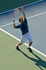 Roger Federer serving (eugene) Tags: us open roger federer tennis serve