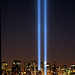 NYC Twin Lights 911 Tribute in Lights  Memorial 2005