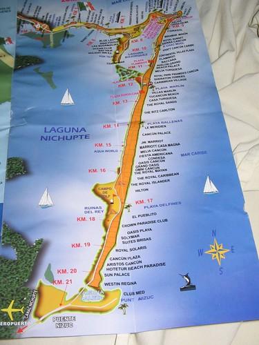 hotel zone map cancun. cancun hotel zone map