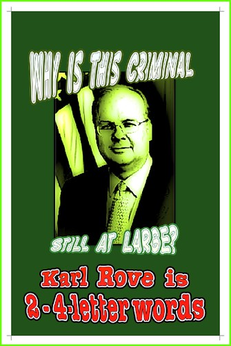 Karl Rove is 2 4-letter words
