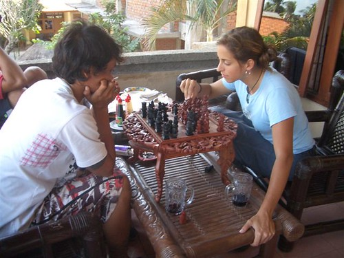 Learning to play chess (taken by Shea)