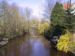 Bridge over Stadtgraben in Emden (gerriet) Tags: bridge trees favorite water topv111 germany geotagged canal topv555 lovely1 memories mostinteresting ostfriesland topv666 1on1 stadtgraben emden waytoschool 555v5f 666v6f interestingness245 i500 geo:lon=7214 geo:lat=533707 abigfave favoritesonly