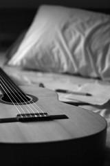 6 String (Lachlan) Tags: guitar pillow bw rateme17 rateme28