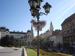 the theatre square in Novi Sad (petarvrg) Tags: novisad town serbia vojvodina