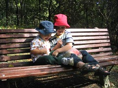 Sharing birdseed, 2005