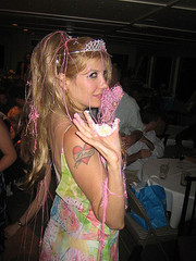 Party Mess by april (kittykowalski) Tags: birthday party tiara cake 04 favorites wigs lindsey boatparty 072805 aprilmonth