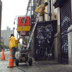 Powerwash (GammaBlog) Tags: powerwashing lowereastside graffiti wk streetart nyc nycpb