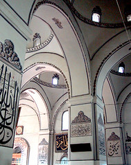 Ulu Camii, Bursa, Turkey (birdfarm) Tags: freeassociation turkey türkiye mosque arabic dome ottoman calligraphy bursa ottomanarchitecture camii ulucamii