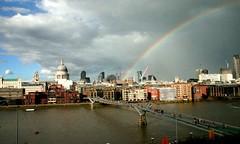 Rainbow over London (.brian) Tags: rainbow london stpauls tatemodern thames millenium bridge sky clouds weather
