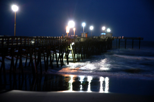 The lights on Sportsman's Pier