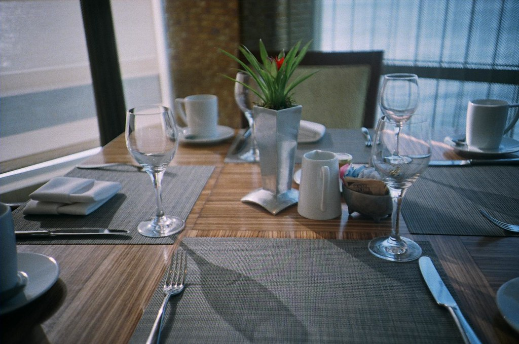 table in hotel