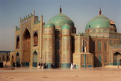 Shrine of Hazrat Ali (mission75) Tags: travel afghanistan film architecture shrine muslim islam prayer mosque explore cami centralasia mazar mazaresharif hazratali nikonstunninggallery explore401september272005 mission75 jhflickrfaves