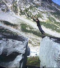 jump (Dru!) Tags: flying jump bc britishcolumbia gap boulder sloan granite block takeoff leap upupandaway stemalot
