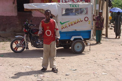 Ethiopia - Arsenal supporter in Dire Dawa