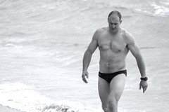 Swimmer 2 (sengsta) Tags: beach surflifesavers aussies blackandwhite swimmers